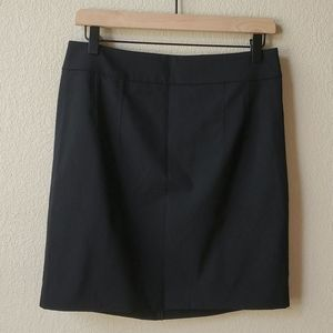 EXPRESS Above knee black suit skirt ruched detail